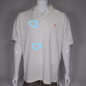Brooks Brothers Shirts - Brooks Brothers Men's Off-White Polo L With Stain